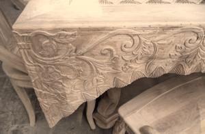 cat kayu furnitur bertekstur