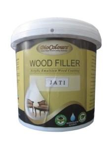 Kelebihan dempul kayu water based juga dimiliki Biocolours Wood Filler