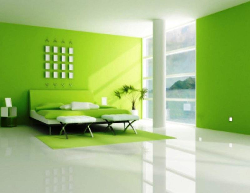 Warna hijau cerah untuk kesan natura yang segar.