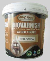 Biocolours Biovarnish merupakan salah satu produk pernis kayu water based.