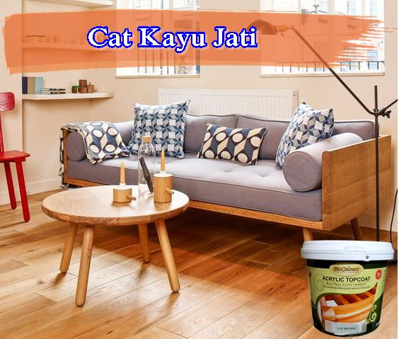 cat-kayu-jati-Wooden Daybed